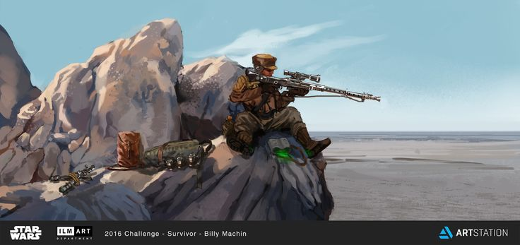ILM Star Wars Survivor: Sniper, Billy Machin on ArtStation at https://www.artstation.com/artwork/wyzOX