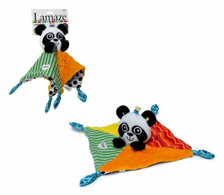 Tuto Panda Lamaze, tuto con cara de panda, en sus extremos tieme pequeňas etiquetas ideales para cuando los bebés quieran succionar, de material suave.