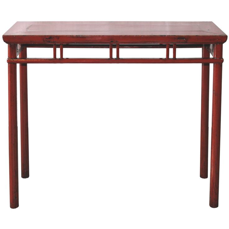 Red Console Table on Chairish.com