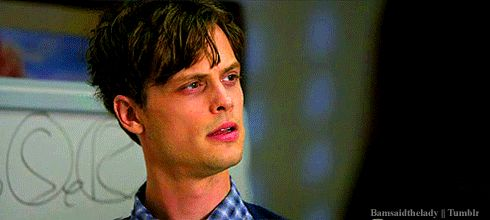 "Because when he bites his lip it looks like this. | 24 Reasons To Love Dr. Spencer Reid From ""Criminal Minds"""