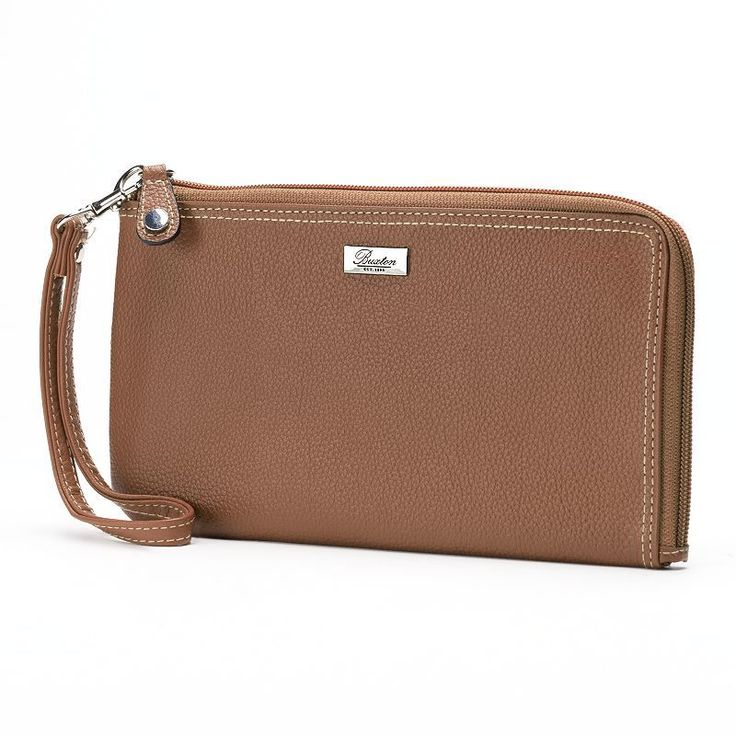 Buxton Westcott Expandable Rfid-Blocking Leather Wallet, Women's, Lt Brown