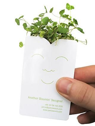 14 best plantable seed paper ideas images on pinterest seed a business cardseed planter genius reheart Gallery