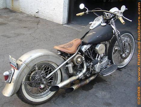 Photo Of 1958 Harley Flh Panhead Oldschool Bobber Bikes