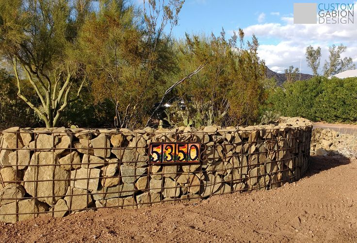 curved gabion walls | Gabion baskets and Gabion wall design, we create beautiful landscape features in Phoenix, AZ ...