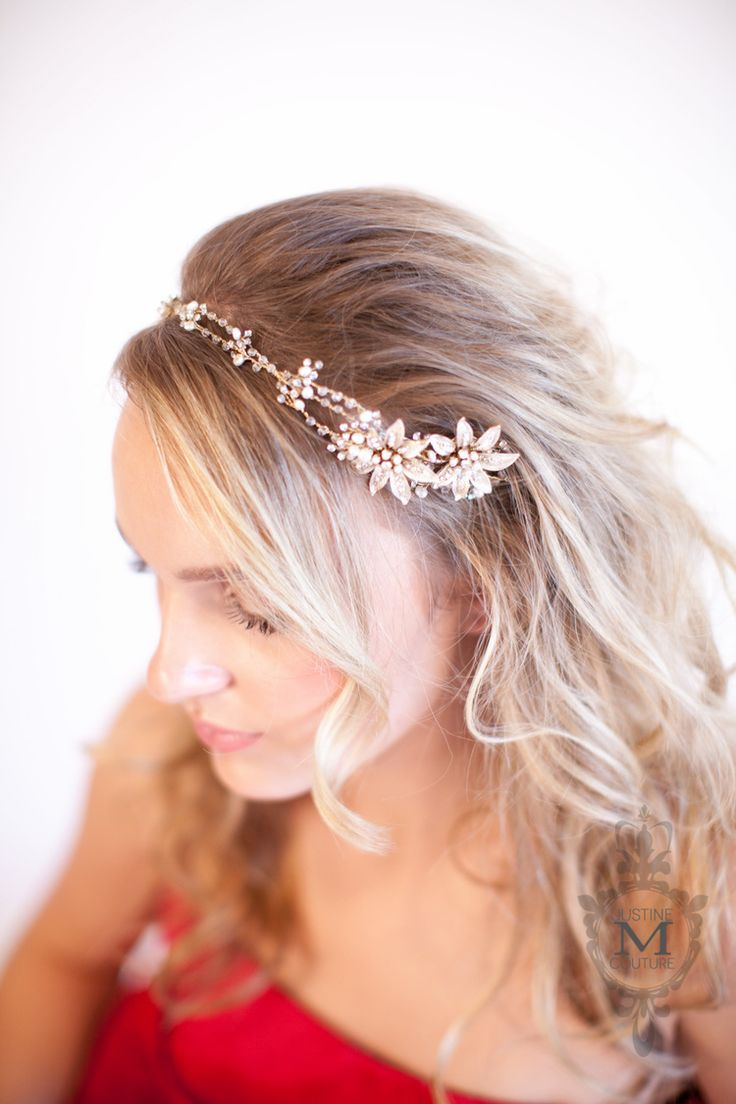 77 best bridal headbands & vines by justine m couture images on