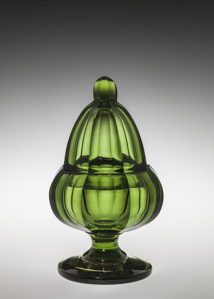 Sugar Bowl with Lid, New England Glass Company, probably Cambridge, Massachusetts, possibly New York City, New York, possibly Jersey City, New Jersey, United States, about 1837-1842. Purchased with the assistance of The Karl and Anna Koepke Endowment Fund. 2015.4.5 #corningmuseumofglass #cmog #glass #tableware #design