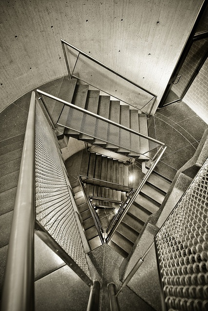 Yale University ... cylindrical stair