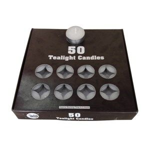 Tea Light Candles are high quality parrafin wax candles with a burning Capacity upto 4 hours. One pack contains 50 pieces