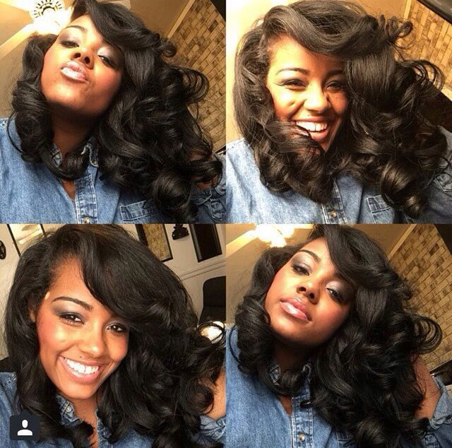 Pretty Roller Set - http://www.blackhairinformation.com/community/hairstyle-gallery/natural-hairstyles/pretty-roller-set/ #naturalhairstyles