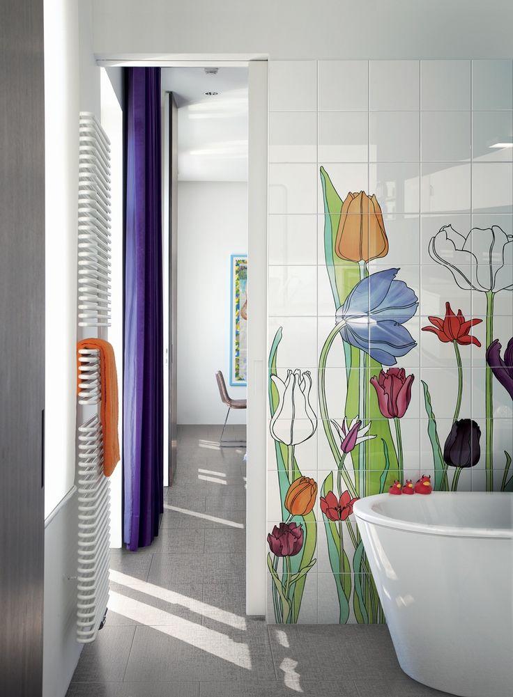 Oltre 25 fantastiche idee su bagni di piastrelle su - Incollare piastrelle su piastrelle bagno ...