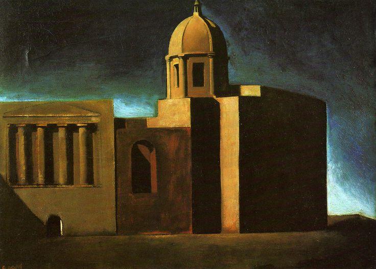 """Mario Sironi """" Composizione architettonica urbana """" 1919-23 (1189×850)"""
