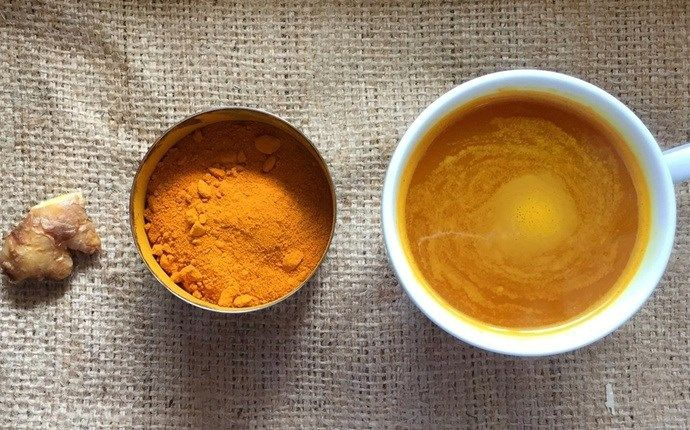 hot water with turmeric every morning