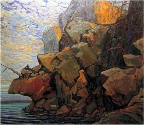 The Sheep's Nose, Bon Echo  Arthur Lismer, Canada 1885-1969  oil on canvas101.6 x 114.3cm.