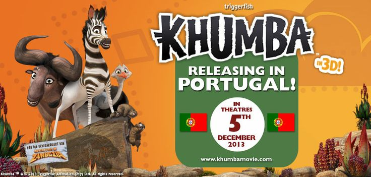 Get your popcorn and grab the kids!! Only ONE more Sleep till Khumba opens in Portugal!   Khumba is the man about town, but can he save the herd?   SEE MORE HERE FOR GAMES AND ACTIVITIES FOR KIDS: www.khumbamovie.com