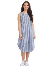 Whistle Blue Stripe Dress product photo