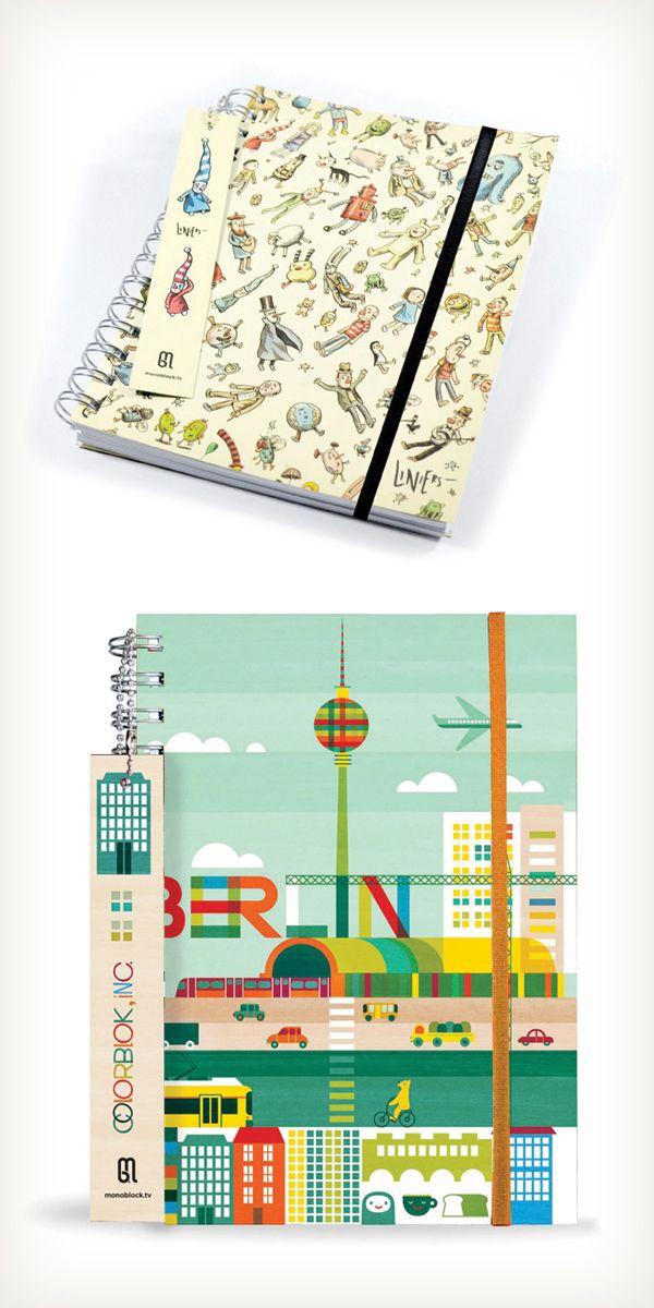 Cuadernos, agendas y mininotes de Monoblock, distinguidos con el Sello de Buen Diseño 2013.