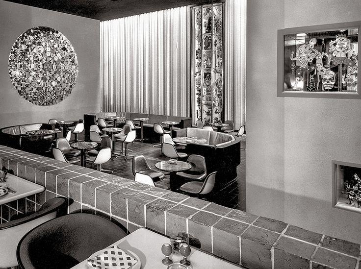 1960 #Eames chairs by @hermanmiller in Alexander Girard's La Fonda del Sol, Time-Life Building