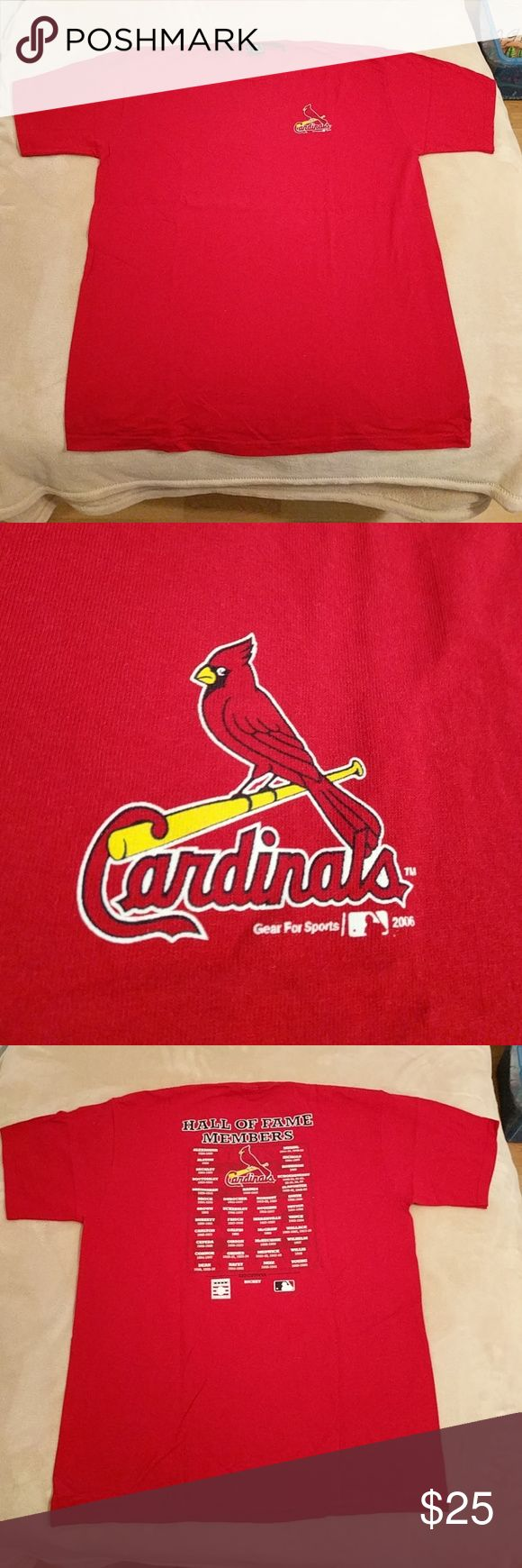 ST. LOUIS CARDINALS HALL of FAME. Features members of Cardinals Hall of Fame. Never worn. NEW!!! Shirts Tees - Short Sleeve