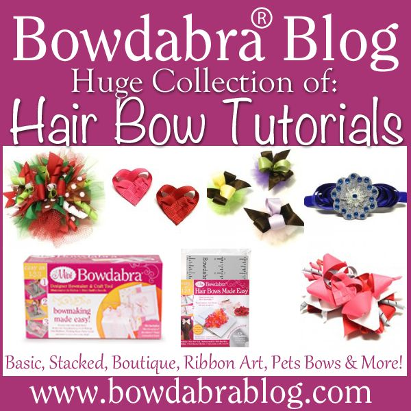 Huge Collection Bowdabra Hair Bow Tutorials: Basic, Stacked, Boutique, Ribbon Art, and Dog Bows