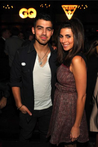 Joe Jonas, Jamie Lynn Sigler and Shenae Grimes at Guess + GQ Celebration party