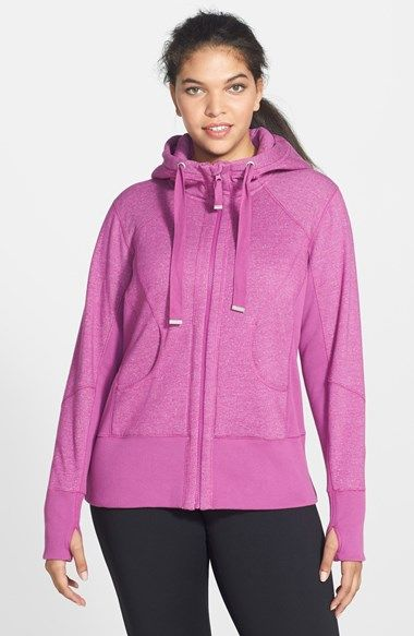 Zella 'Pretty Moon Dust' Hooded Jacket (Plus Size) available at #Nordstrom