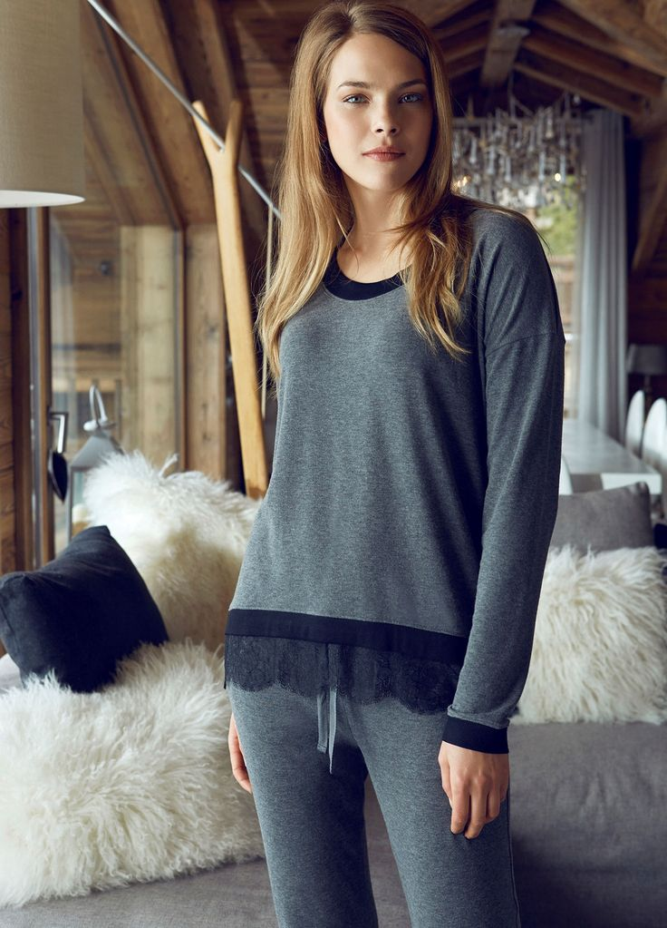 Penye Mood 7843 Bayan Pijama Takım   Mark-ha.com