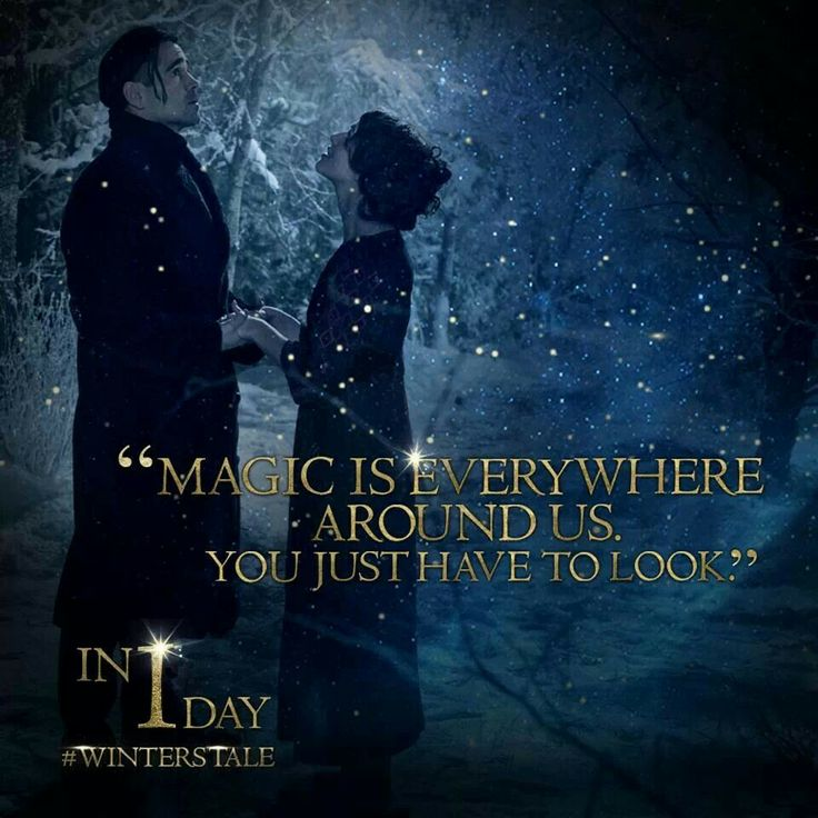Winter Tale totally raised my standards love this movie
