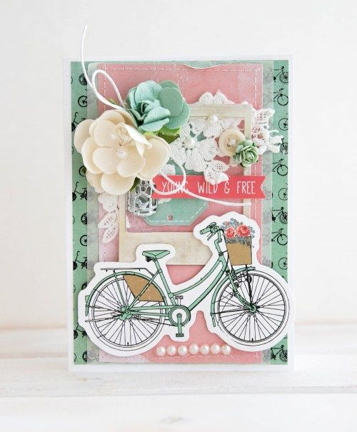 'Young-Wild and Freee' card by Alena Grinchuk  DT for Kaisercraft using 'Boho Dreams' collection.