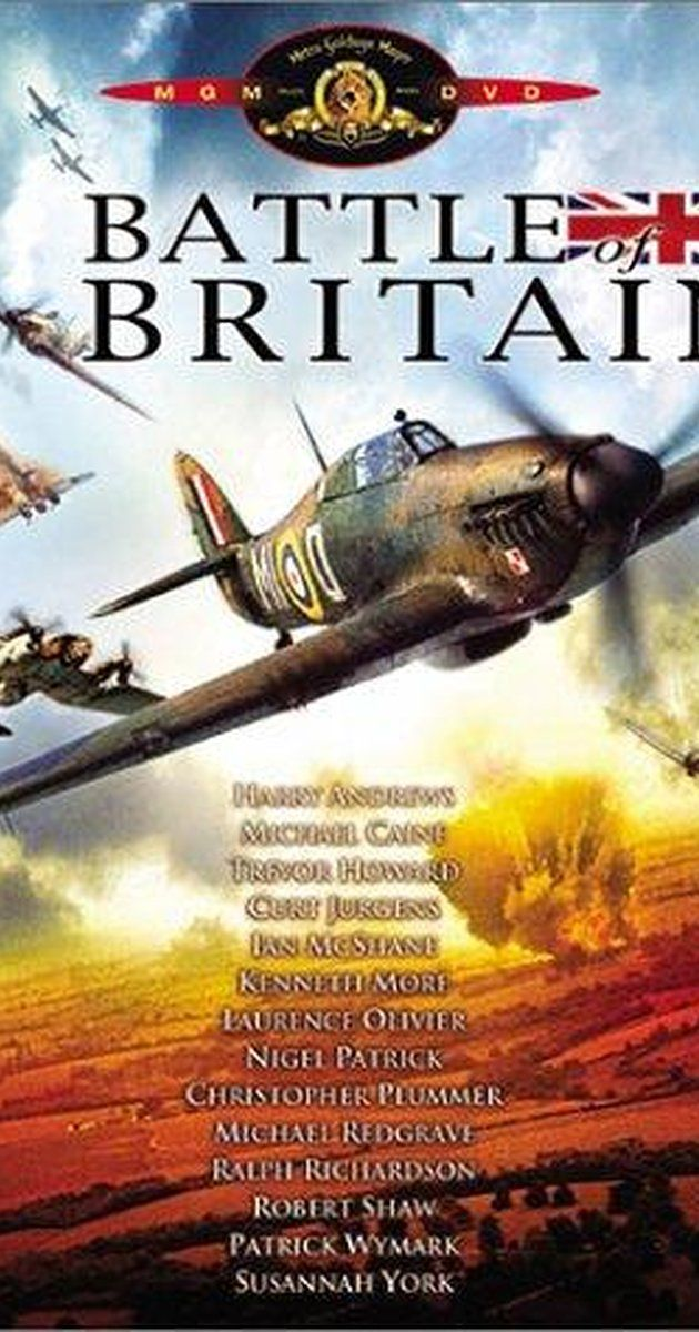 Directed by Guy Hamilton.  With Michael Caine, Trevor Howard, Harry Andrews, Curd Jürgens. In 1940, the British Royal Air Force fights a desperate battle vs. the Nazi Germany Air Force for control of British air space to prevent a Nazi invasion of Britain.