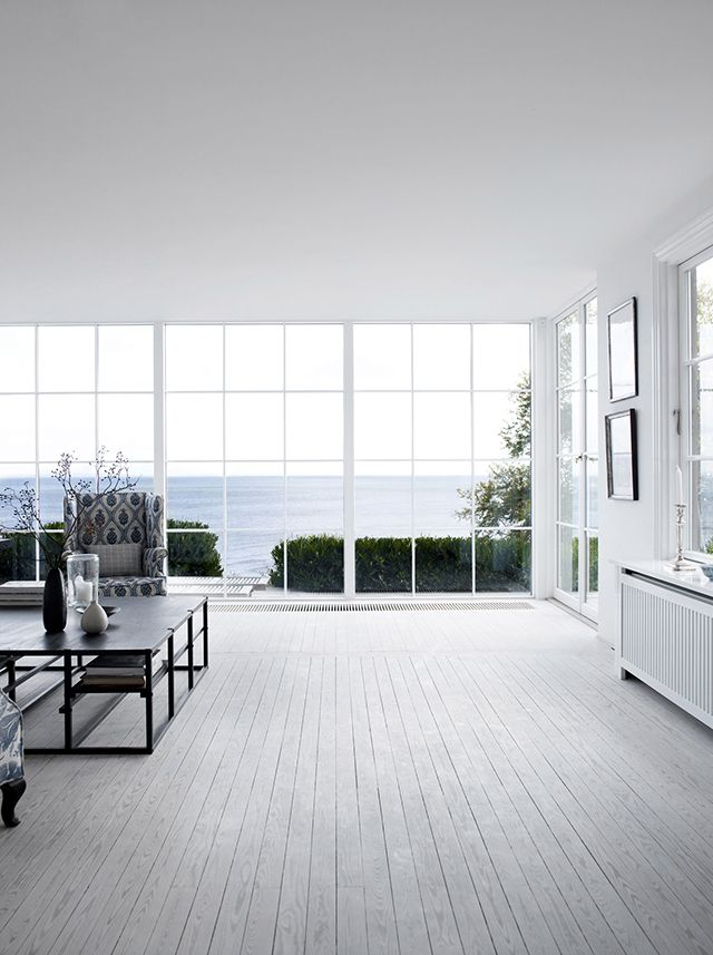 Danish Summer House. The oven really fills the emptiness here. I want those windows and a view.