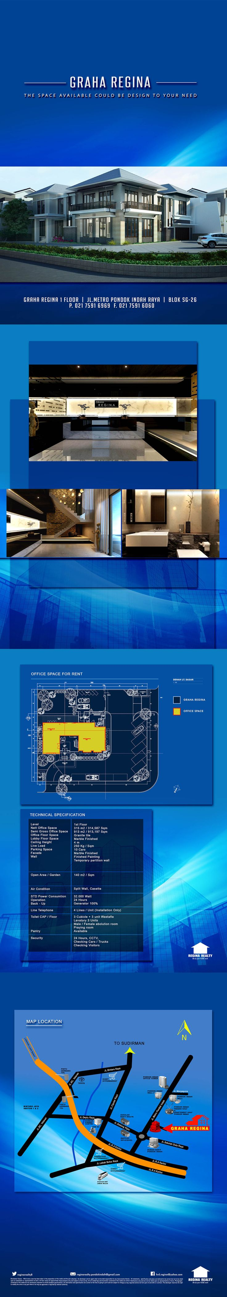 GRAHA REGINA The Space Available Could Be Design To Your Need www.reginarealty.co.id