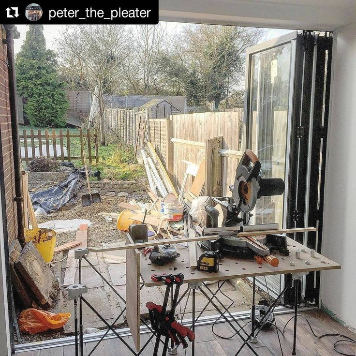 This #jobsite features a #CentipedeSupport #mitersaw #stand with a view! Repost via @peter_the_pleater:    Just a bit of Sunday setup not all the goodies out on show but sunshine and tunes thanks to #festool #sysrock #dewalt #laser #centipedetool #mft #c18 #toughbuilt #makita #systainer ・・・  with @repostapp  #CentipedeSawhorse #portable #workbench #temporary #workshop #worktable #woodshop #workspace #sawhorse #contractor #carpentry #joinery #renovation #remodel #tools #protools