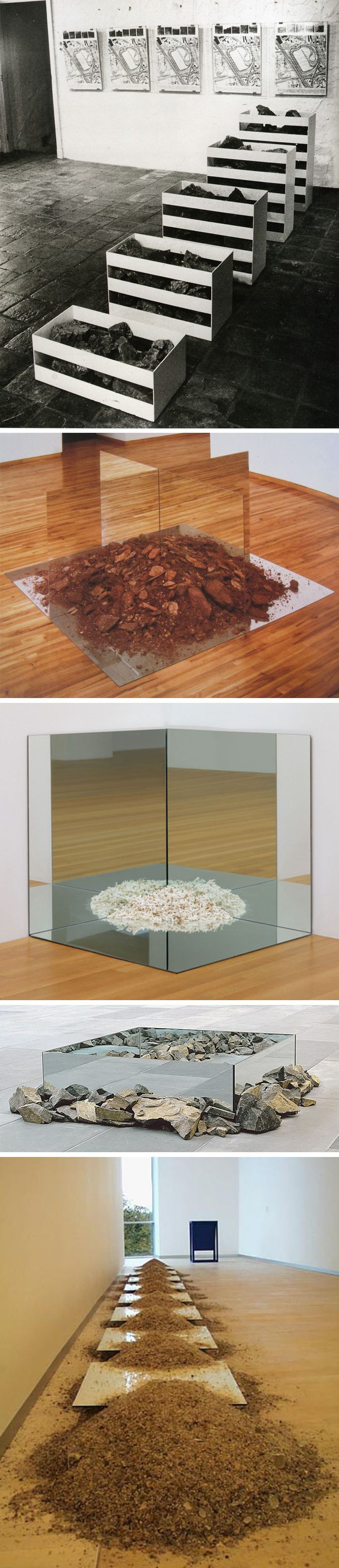Robert Smithson || Nonsite sculptures