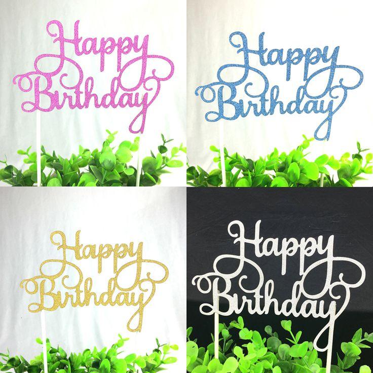 1 pz Multi-color Cupcake Cake Topper Torta Di Buon Compleanno Bandiere Doppio Bastone Per La Famiglia Festa Di Compleanno di Cottura Decorazione forniture