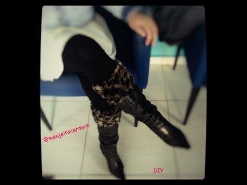 faux fur socks - meias de pele falsa #meujeitocarmem #frio #pele #meiasde pele #polainadepele