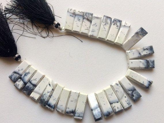 Dendrite Opal Beads Dendrite Fancy Faceted Sticks by gemsforjewels