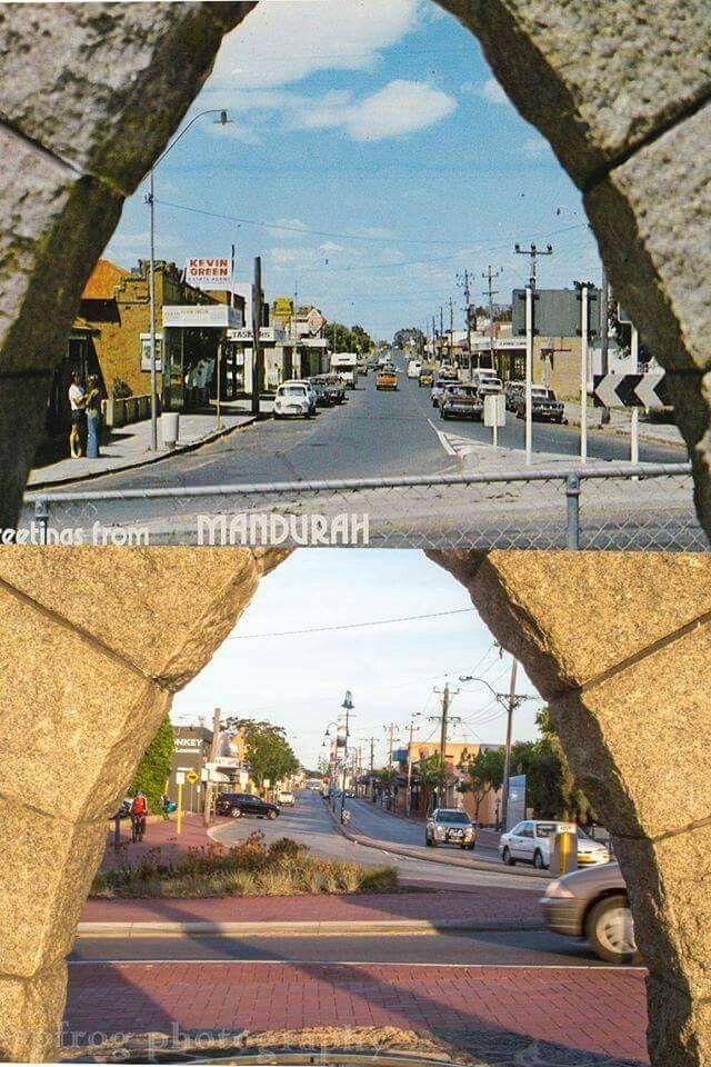 Now and Then.  Pinjarra Rd from old bridge.  Jason Barnett.