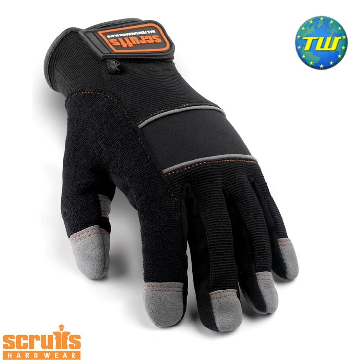 http://www.twwholesale.co.uk/product.php/section/10257/sn/Scruffs-Gloves-T50990 Scruffs Work Gloves are a full work glove designed to protect your hands and provide you with added grip and dexterity.
