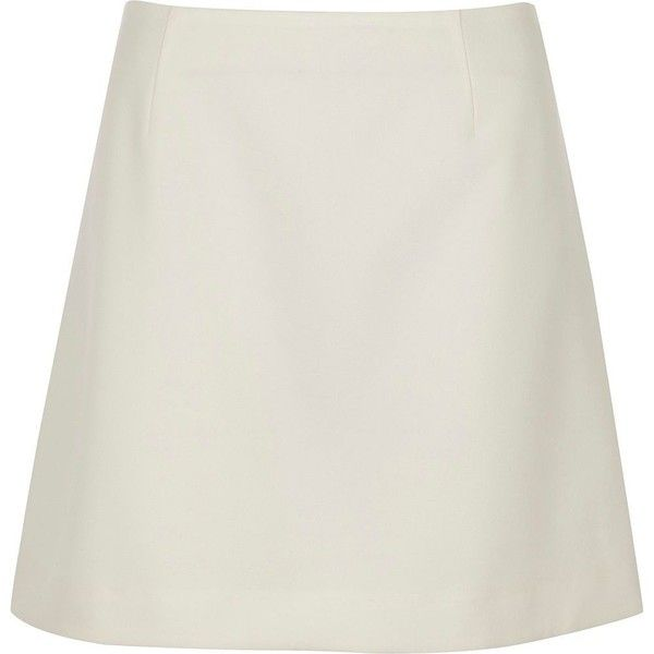 River Island White crepe mini skirt ($24) ❤ liked on Polyvore featuring skirts, mini skirts, sale, white, women, short a line skirt, tall skirts, short mini skirts, short white skirt and short skirt