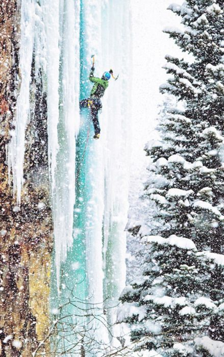 In the sweat of summer, this must seem like a lifetime ago for those who climb ice! #climbing