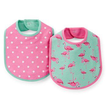 Pack de 2 baberos tricapa Carter's de nena
