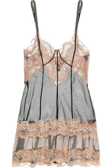 La Perla Lace and Tulle Chemise