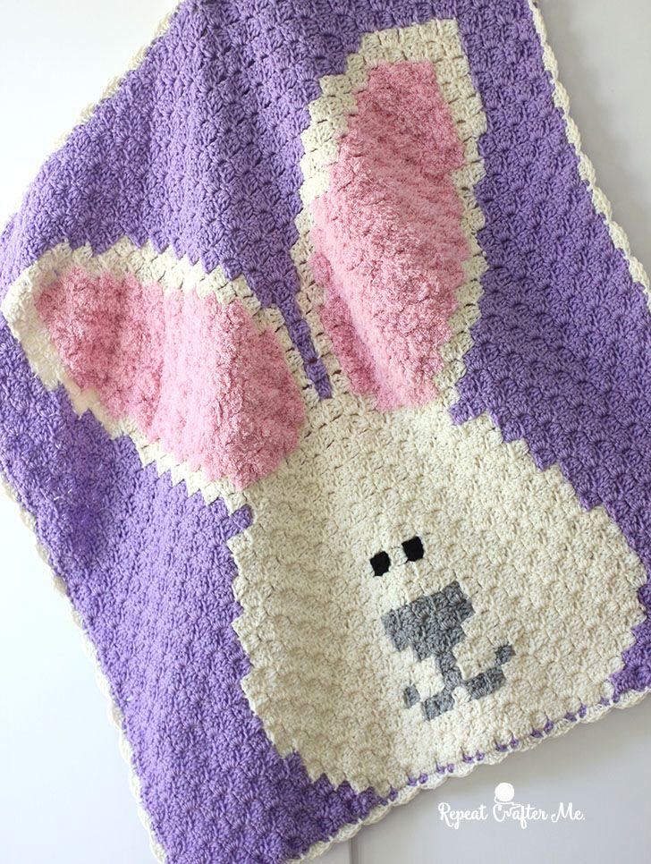Crochet Bunny C2c Blanket Crochet Pinterest Häkeln Häkeln