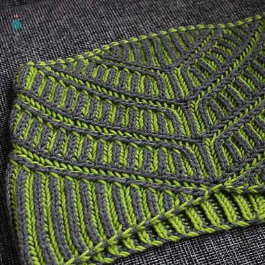 Unapologetic Knitter Slanted View Brioche Cowl Knitting Pattern PDF