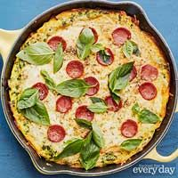 Ricotta Frittata Pepperoni Pizza