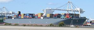 MSC Fabiola is a container ship operated by the Mediterranean Shipping Company (MSC), the largest such vessel ever to dock in North America. (4 football fields long)On March 19, 2012, Fabiola docked at the Port of Long Beach, breaking earlier records for the largest container ship at a U.S. port, and at any North American port.  MSC Fabiola is the first of a series of identical sister ships. The other three are M