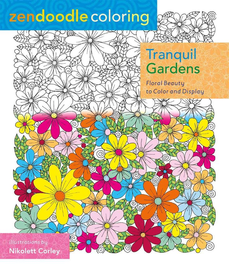 Let beauty bloom in your own Zendoodle garden! Welcome to Zendoodle Coloring… --> For the top adult coloring books and writing utensils including gel pens, watercolors, drawing markers and colored pencils, go to our website at http://ColoringToolkit.com. Color... Relax... Chill.