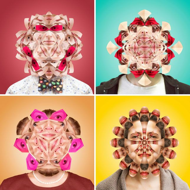 How crazy are these kaleidoscopic portraits by Norg Nodis?