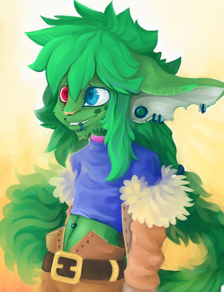 Green furry