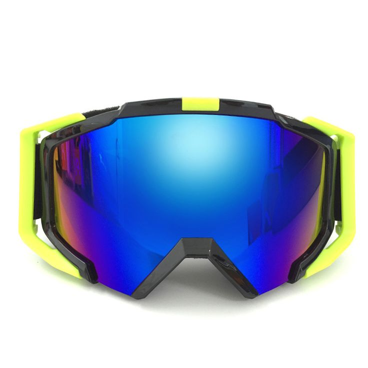 2-in-1 Ski Sunglasses with Detachable Nose Piece Protection, Motor Cycle Goggles UV400 Anti-Scratch Wear Over Rx Glasses